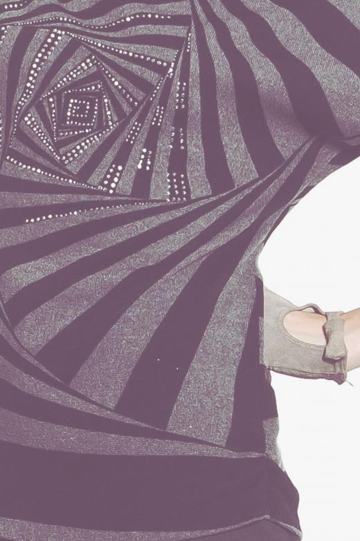 Bluza z siatkową wstawką z motywem awokado