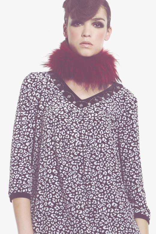 Koszula z wiskozy z motywem awokado