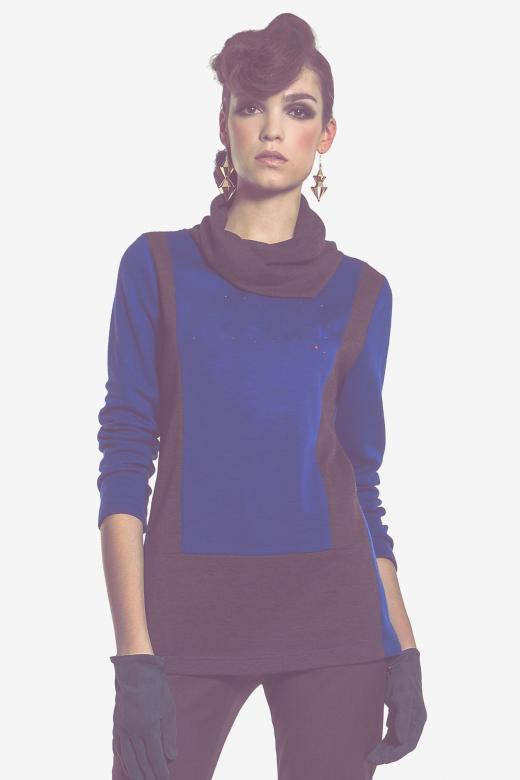 Bluza z plisą guzikową z motywem awokado