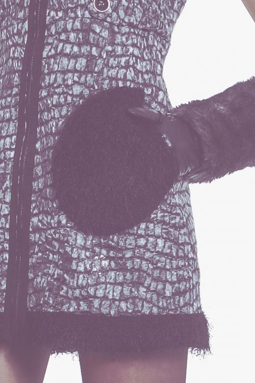 Kurtka w szerokie pasy z motywem awokado