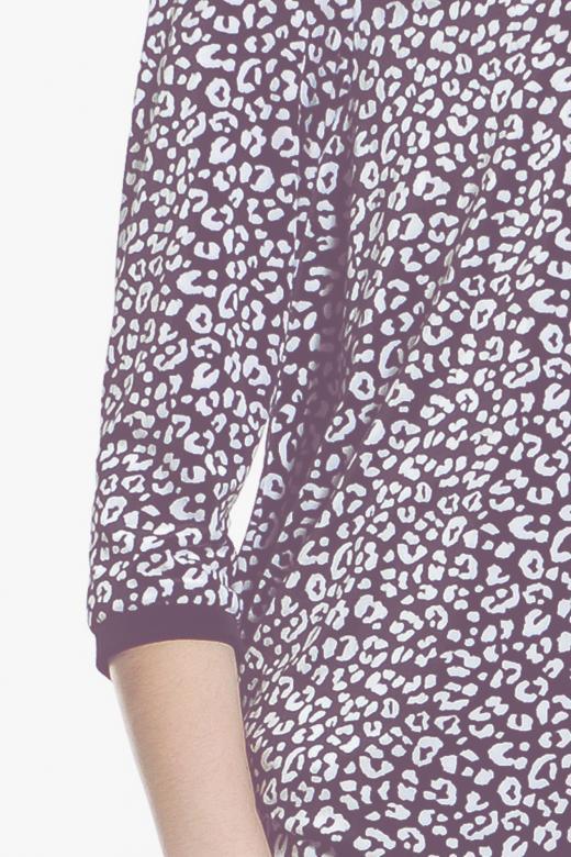 Bluzka ze sznurowaniem w kropki